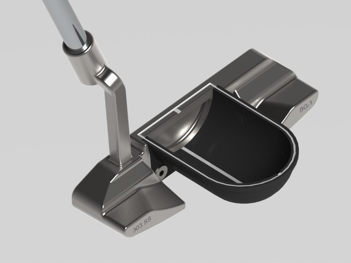 BG-1 full offset hosel black half-pipe